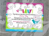 Open House Baby Shower Invitation Wording Oh Baby Baby Shower Open House Invitation Custom