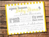 Open House Baby Shower Invitation Wording Peep Baby Shower Invitation Open House Shower Bird themed