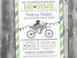 Open House Baby Shower Invitations Motocross Baby Shower Open House Invitation Custom