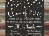 Open House Graduation Party Invitation Wording Graduation Party Invitation Custom Color Graduation Open
