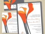 Orange and Grey Wedding Invitations 1000 Images About Coral Calla Lily Wedding On Pinterest