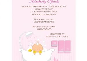 Order Baby Shower Invitations Online Baby Stationery order now Online Bath Time Girl Baby