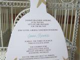 Order Bridal Shower Invitations Beach theme Star Fish Bridal Shower Invitation Custom