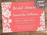 Order Bridal Shower Invitations Lace Bridal Shower Invitation Wedding Shower Invitation