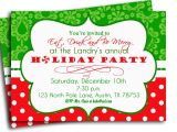 Order Christmas Party Invitations Christmas Party Invitation Printable Traditional Holiday