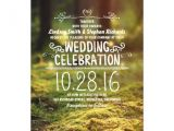 Outdoors Wedding Invitations Woodland Rustic Outdoor Wedding Invitations Zazzle