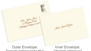 Outer Envelopes for Wedding Invitations Properly Address Pocket Invitations without Inner Envelopes