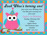 Owl 1st Birthday Invitations Owl 1st Birthday Party Invitations