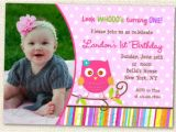 Owl 1st Birthday Invitations Owl Invitations