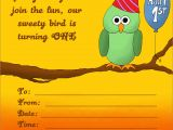 Owl 1st Birthday Party Invitations 20 Cute 1st Birthday Invitations Free Printable and