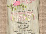 Owl Baby Shower Invitations Etsy Owl Baby Shower Invitation with Wood Background Digital