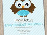 Owl Baby Shower Invitations for Boy Boys Baby Shower Invitation Blue Owl Printable Digital File