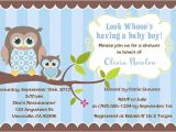 Owl Baby Shower Invitations for Boy Owl Baby Shower Invitations Boy