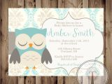 Owl Baby Shower Invitations for Boy Printable Baby Shower Invite Owl Baby Shower Invitation