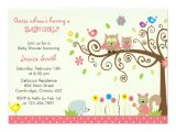 Owl Baby Shower Invitations for Girls Cute Pink Owl Girl Baby Shower Invitations
