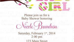 Owl Baby Shower Invitations for Girls Owl Baby Girl Shower Invitations