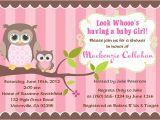 Owl Baby Shower Invitations for Girls Owl Girl Baby Shower Invitations Owl Baby Shower Boy