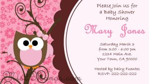 Owl Baby Shower Invitations Free Baby Shower Owl Invitations Printable Pink Owl Custom order