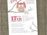 Owl Baptism Invitations Baby Owl Christening Invitation Printable by Sladestudios