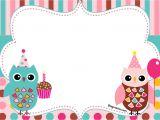 Owl Birthday Invitation Template Free Free Printable Owl Birthday Invitation Bagvania