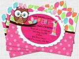Owl Birthday Invitation Template Pretty Owl Birthday Party Invitation Digital Diy by Babyfables