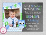 Owl First Birthday Invitations Owl 1st Birthday Invitation Owl Birthday Invitation Boys