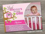 Owl First Birthday Invitations Owl 1st Birthday Invitations Ideas – Bagvania Free
