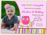 Owl First Birthday Invitations Owl Invitations