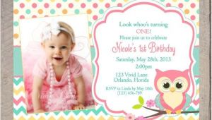 Owl First Birthday Photo Invitations 17 Best Ideas About Owl Birthday Invitations On Pinterest