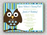 Owl First Birthday Photo Invitations 301 Moved Permanently