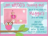 Owl First Birthday Photo Invitations Owl 1st Birthday Invitations Ideas – Bagvania Free