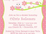 Owl Invites for Baby Shower Baby Shower Invitation Wording