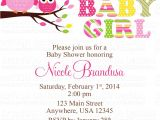 Owl Invites for Baby Shower Owl Baby Girl Shower Invitations