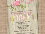 Owl Invites for Baby Shower Owl Baby Shower Invitation with Wood Background Digital