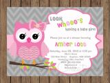 Owl Invites for Baby Shower Owl Birthday Invitation Pink Gray Owl Baby Shower Invitation