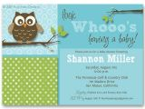Owl Invites for Baby Shower Owl themed Baby Shower Invitation