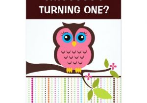 Owl themed 1st Birthday Invitations 1st Birthday Owl theme Party Invitations