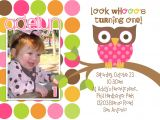 Owl themed 1st Birthday Invitations Owl 1st Birthday Invitations Ideas – Bagvania Free
