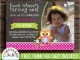 Owl themed 1st Birthday Invitations Owl First Birthday Invitation Owl theme 1st by Benevolentink
