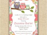 Owl themed Baby Shower Invitation Template Baby Owl Baby Shower Invitations