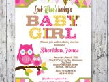 Owl themed Baby Shower Invitation Template Baby Shower Invitations Owl themed Baby Shower