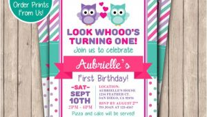 Owl themed First Birthday Invitations Owl Birthday Invitation Printable First Birthday Invite