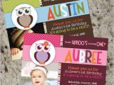 Owl themed First Birthday Invitations Sweet Baby Owl Owl themed Birthday Party Invitations