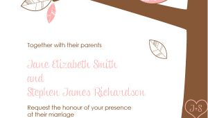 Owl Wedding Invitation Template Free Pdf Download Wedding Owls Invitation with Cute Bride