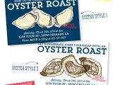 Oyster Roast Birthday Invitations Oyster Roast Dinner Party Invitation Seafood Party Custom