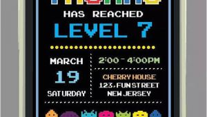 Pac Man Birthday Invitation Template Pacman Birthday Party Invitation Printable by