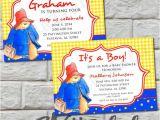 Paddington Bear Baby Shower Invitations 26 Best Images About Paddington Bear Baby Shower Birthday