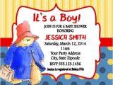 Paddington Bear Baby Shower Invitations Paddington Bear Baby Shower Birthday Party Invitations