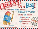 Paddington Bear Baby Shower Invitations Paddington Bear Baby Shower Invitation It S A Boy Baby