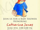 Paddington Bear Baby Shower Invitations Paddington Bear Birthday Invitation or Baby Shower by